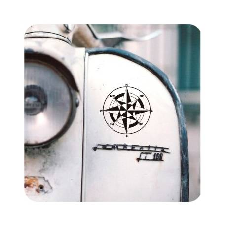 ROSA DE LOS VIENTOS' 'vv0771' Compass Die Cut Sticker