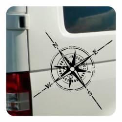 ROSA DE LOS VIENTOS' 'vv0879' Compass Die Cut Sticker