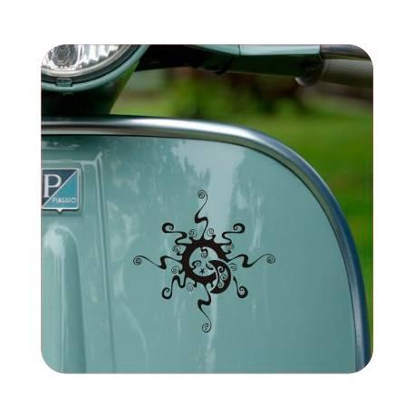 ROSA DE LOS VIENTOS TRIBAL' 'vv0080' Compass Die Cut Sticker