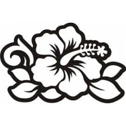 Autocollant Flor Hawaiana Hibiscus