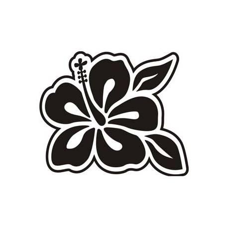 Sticker Flor Hawaiana Hibiscus