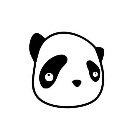 Autocollant panda