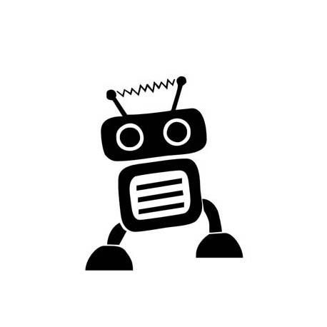 Autocollant robot