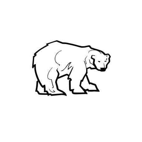 Sticker oso polar