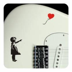 Banksy mädchen ballon Aufkleber