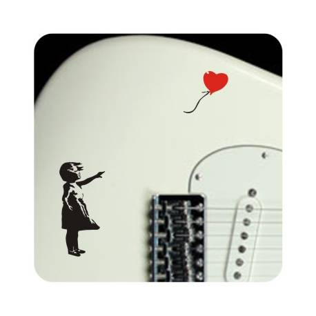 Sticker Nina y globo banksy