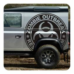 Sticker Zombie Outbreak Response Team