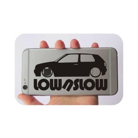 Pegatina VW GOLF LOW. Pegatinas para tu volkswgen
