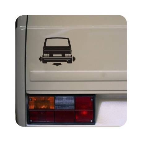 Sticker vw t3 low