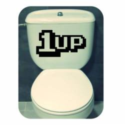1UP Aufkleber