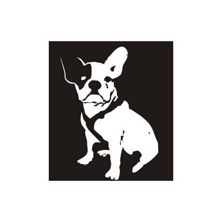 Pegatina BULLDOG FRANCES. Pegatinas de animales y mascotas.