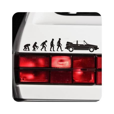 Aufkleber evolucion golf cabrio mk1