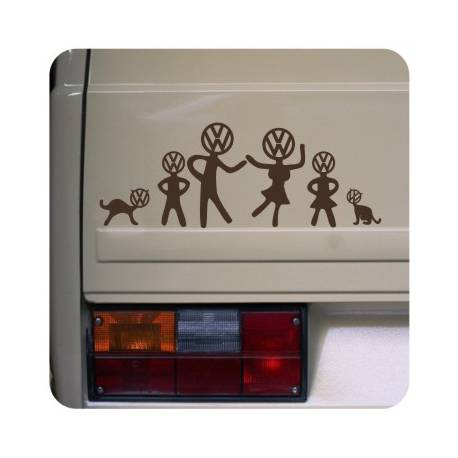 Sticker vw family
