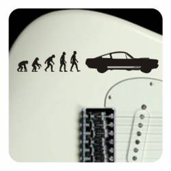 Sticker evolucion mustang