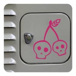 Sticker cherry skull