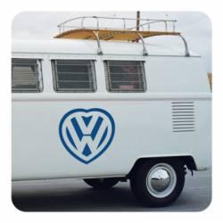 Pegatina CORAZON VW. Pegatinas para Camper y Autocaravana
