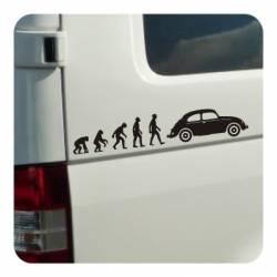 Pegatina EVOLUCION BEETLE. Pegatinas para tu volkswgen