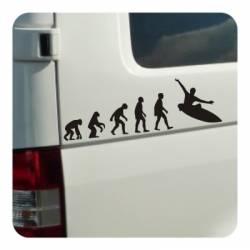 Pegatina EVOLUCION SURF. Pegatinas surferas.