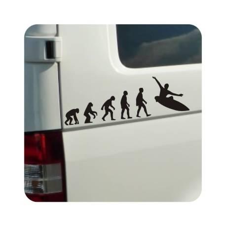 Autocollant evolucion surf