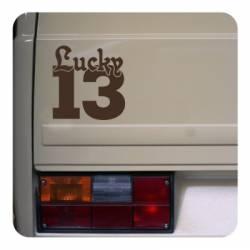 Sticker lucky 13