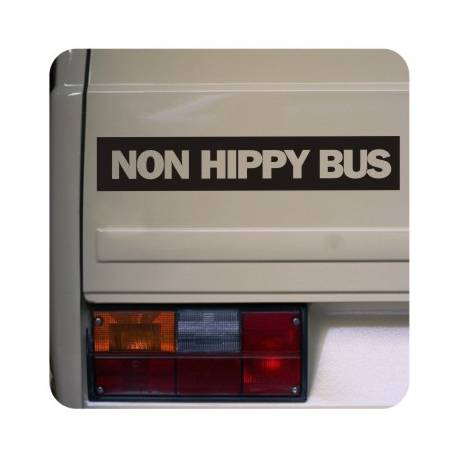 Sticker non hippy bus