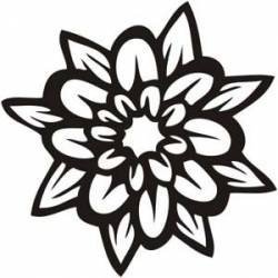 Sticker flor tattoo