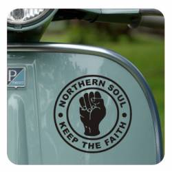 Autocollant northen soul - keep the faith