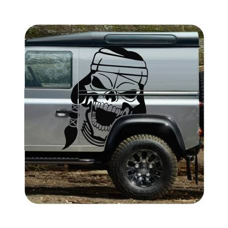 Sticker calavera indio
