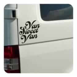 Sticker van sweet van