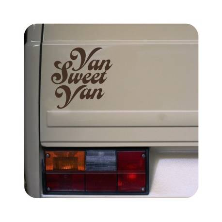 Sticker van sweet van
