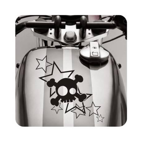 Sticker calaveras estrellas