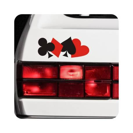 Sticker ases poker