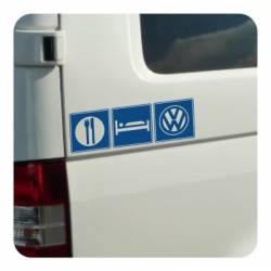 Sticker restaurante hotel vw