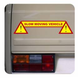Sticker slow moving vehicle