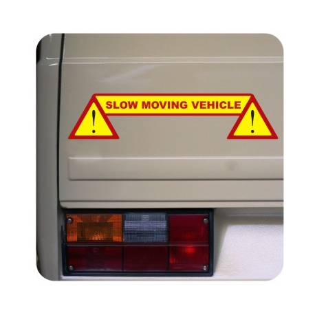 Autocollant slow moving vehicle