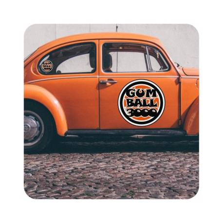 Sticker gum ball
