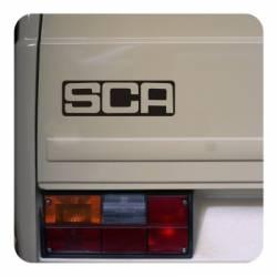 SCA Aufkleber, Wohnmobil Aufkleber