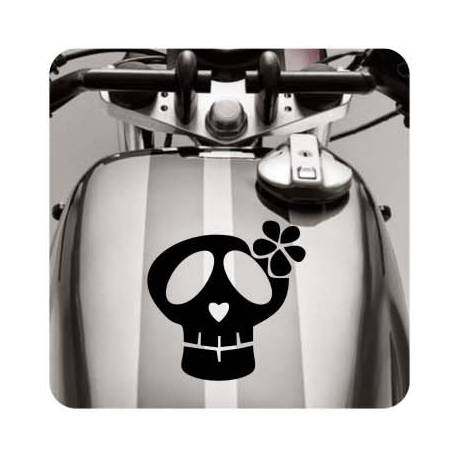 Sticker calavera lazo