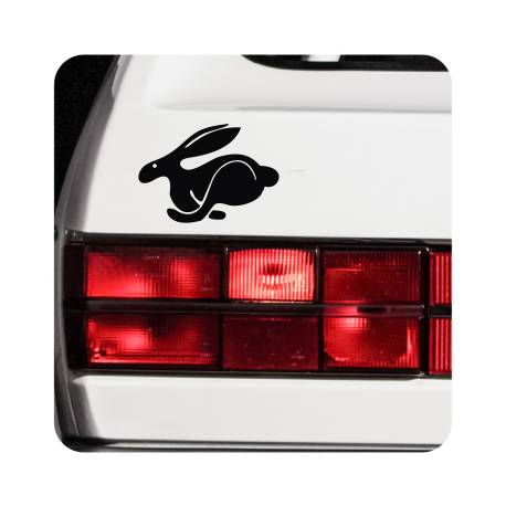 Sticker logo rabbit
