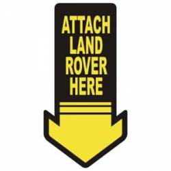 Sticker attach land rover here