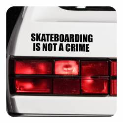 SKATE IS NOT A CRIME Aufkleber