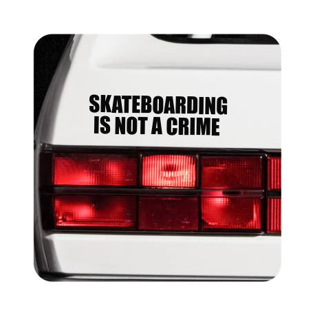 Sticker skate is not a crime