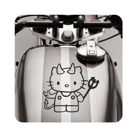 Sticker kitty demonio