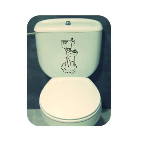 Pegatina WC PAWAH. Pegatinas freaks, pegatinas frikis.