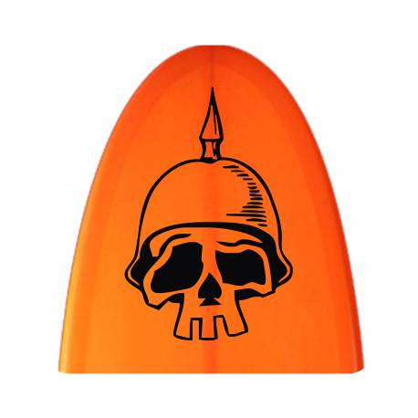 Sticker calavera casco