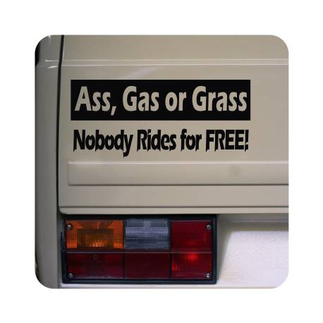 Autocollant ass gas or grass