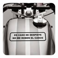 EN CASO DE DESPISTE NO ME QUITEN EL CASCO Aufkleber