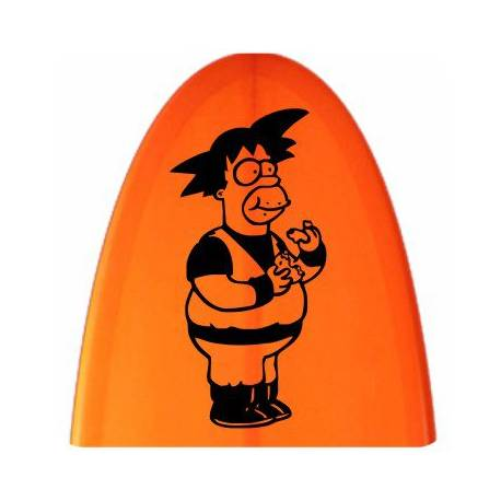 Autocollant Goku Homer