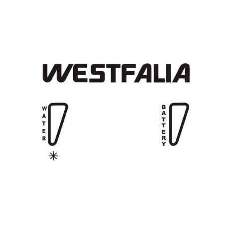 Pegatina Cocina Westfalia. Vinilo de alta calidad, soporta perfectamente la intemperie, apto incluso para náutica. Pégala donde
