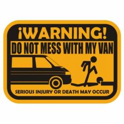 Adesivo don t mess with my van